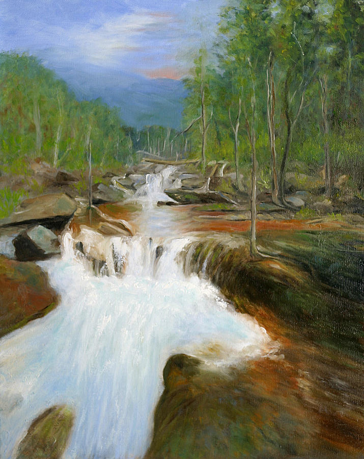 Woods Painting - Blue Ridge Runoff by Max Mckenzie