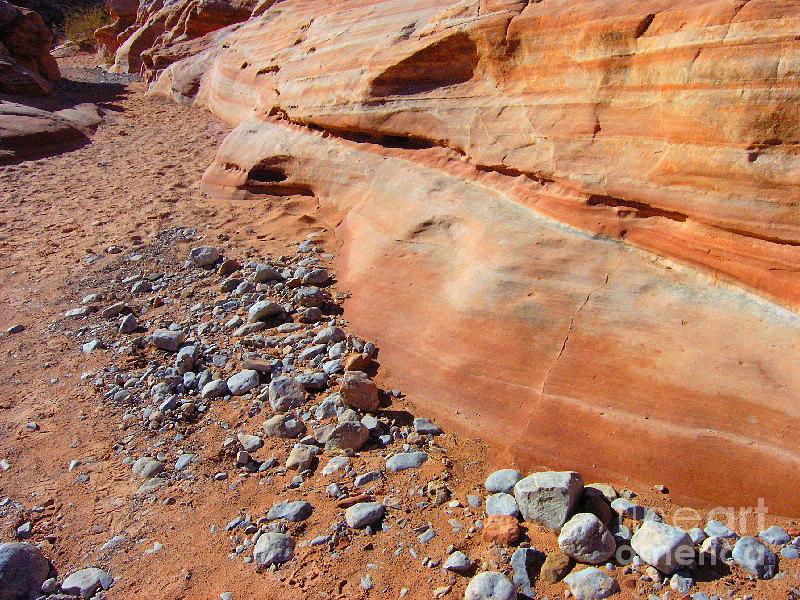 Desert Photograph - Blue Rocks by Silvie Kendall