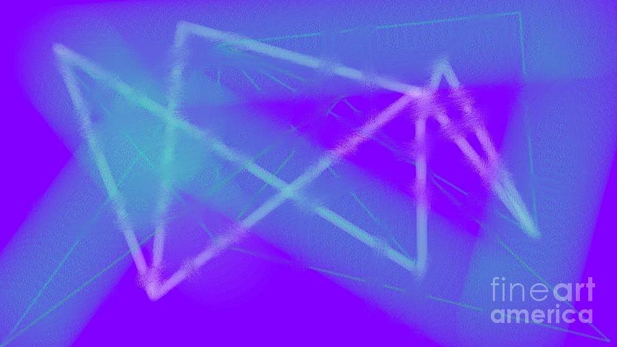 Blue Digital Art - Blue by Rosana Ortiz