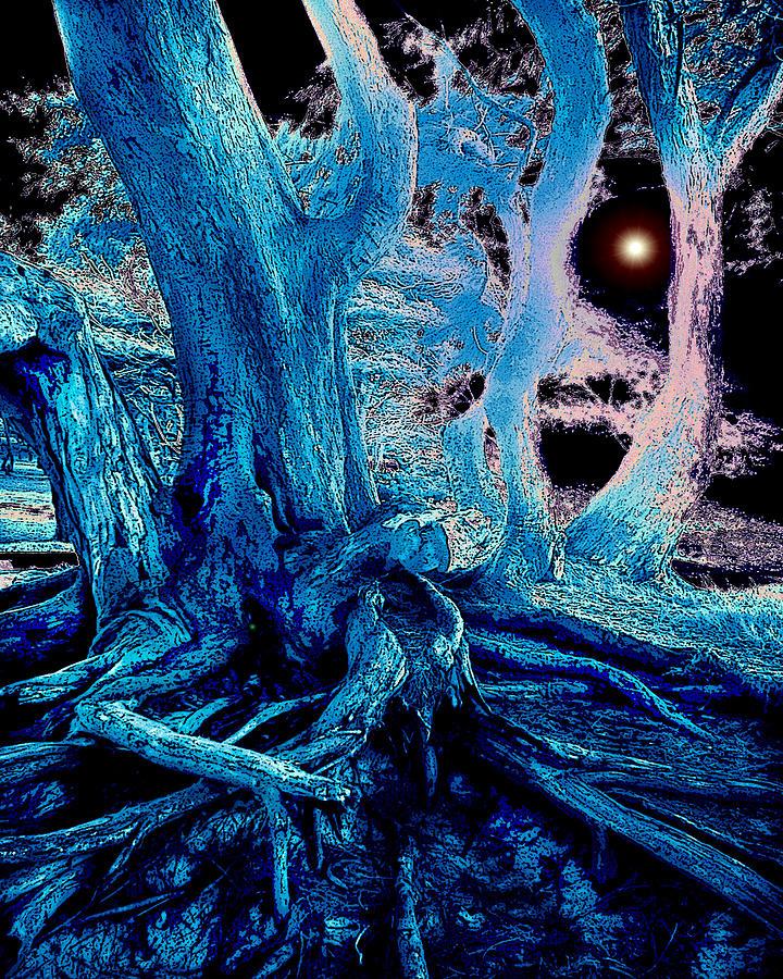 Tree Digital Art - Blue by Ruth Kongaika