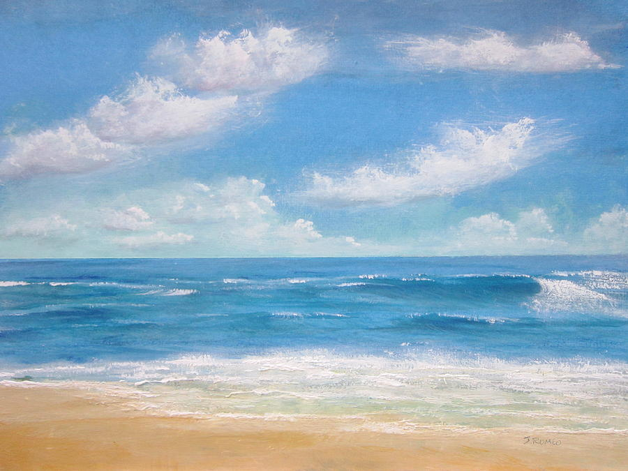 blue sea painting by jim romeo