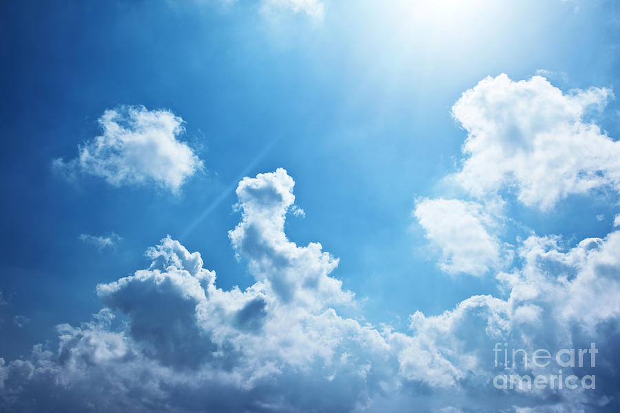 Abstract Photograph - Blue Sky Background by Anna Om