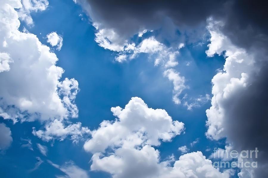 Blue Sky Photograph - Blue Sky by Gaurishankar Khatri