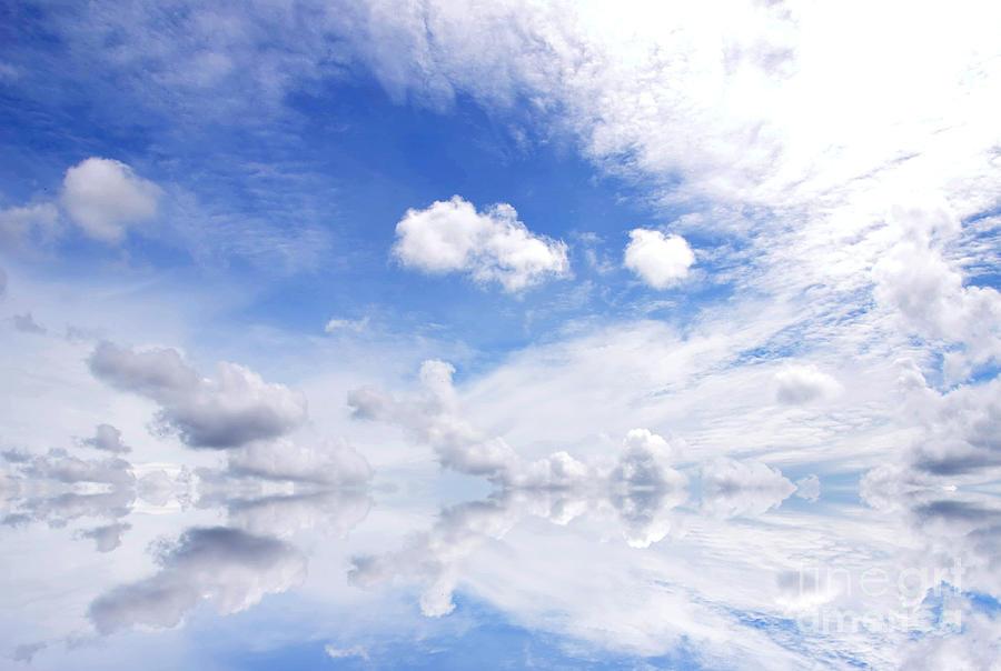 Atmosphere Photograph - Blue Sky by Rakratchada Torsap