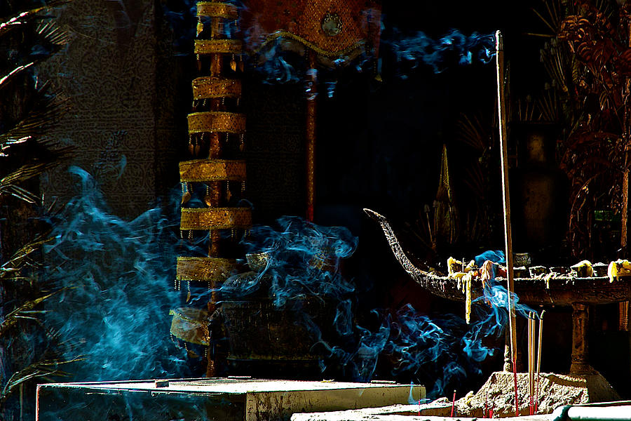 Ancient Photograph - Blue Smoke by Arj Munoz