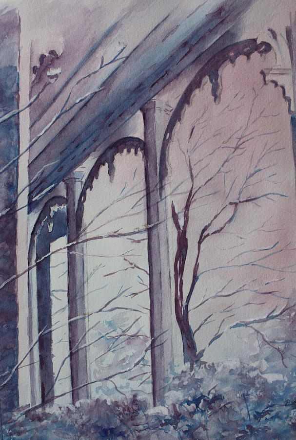 Snow Scene Painting - Blue Snow by Patsy Sharpe