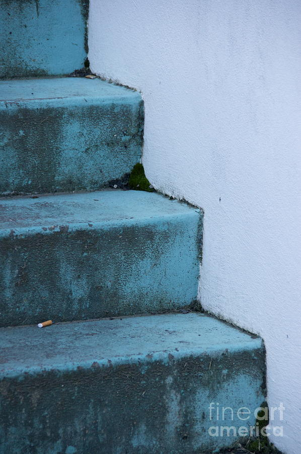 Sean Griffin Photograph - Blue Stairs by Sean Griffin