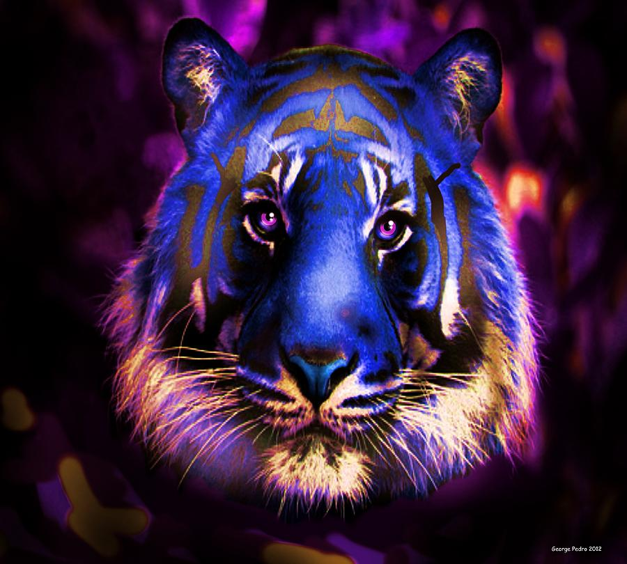 Blue Tiger Of The Purple Forest Photograph By George Pedro