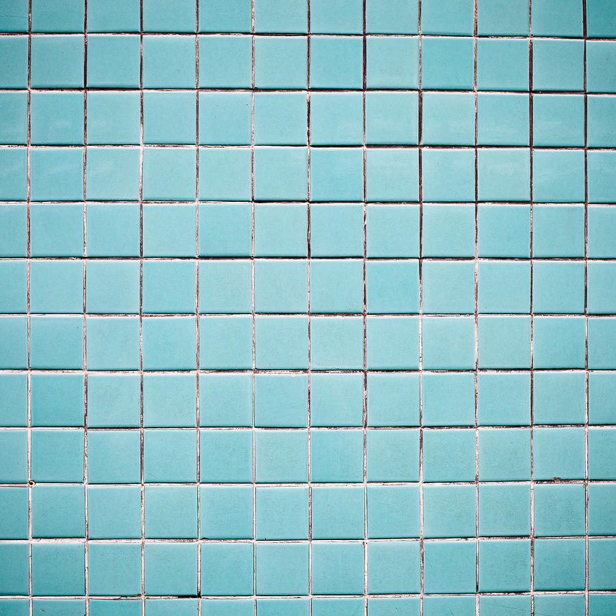 blue tiles photograph by tom gowanlock