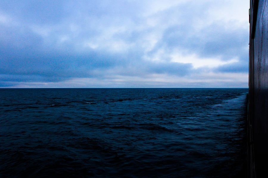 Great Lakes Shipping Photograph - Blue by Tim  Telep