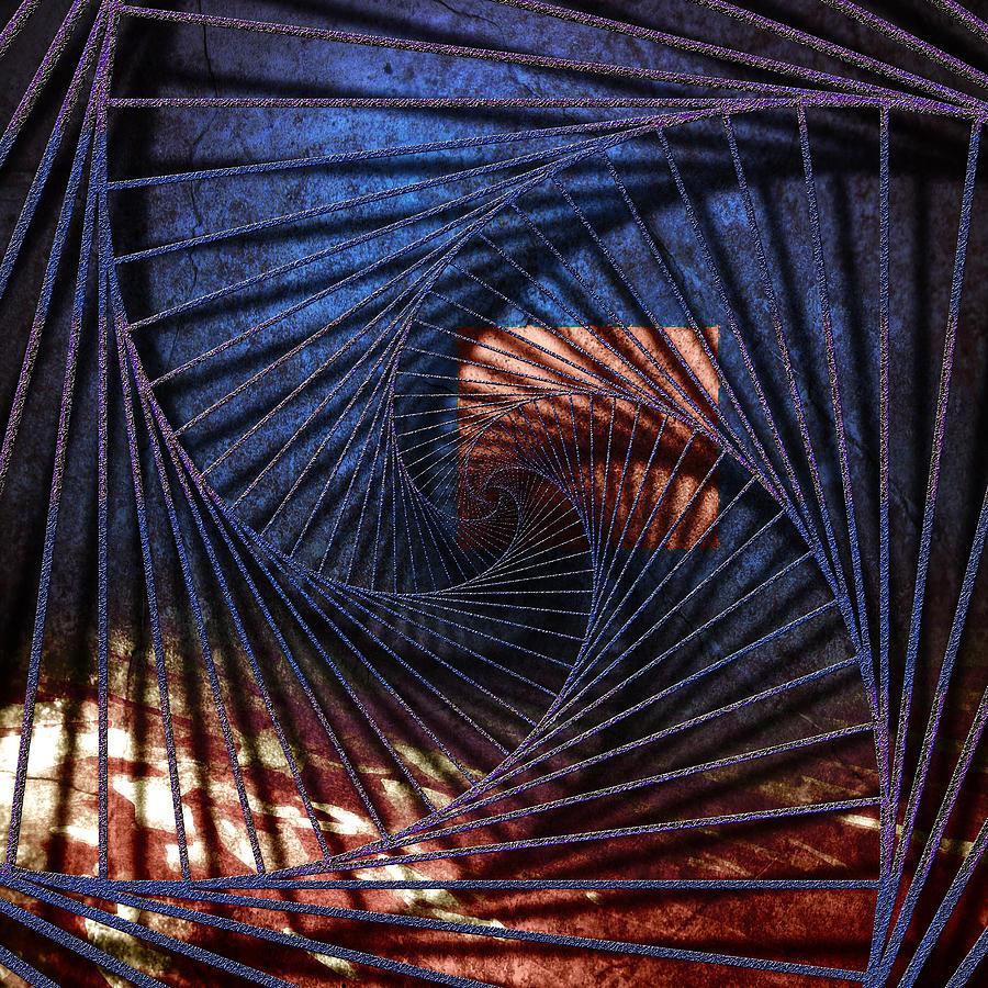 3d Digital Art - Blue Time Chart by Florin Birjoveanu