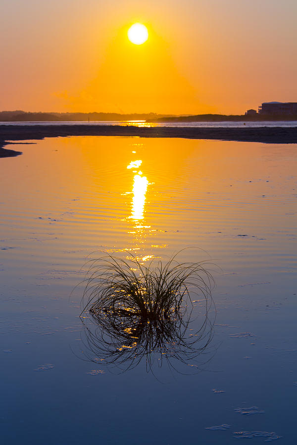 Beach Photograph - Blue To Orange by Alan Raasch