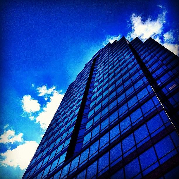 Blue Photograph - Blue Tower by Christopher Campbell