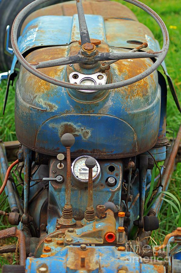 Blue Tractors Drivers Seat Photograph