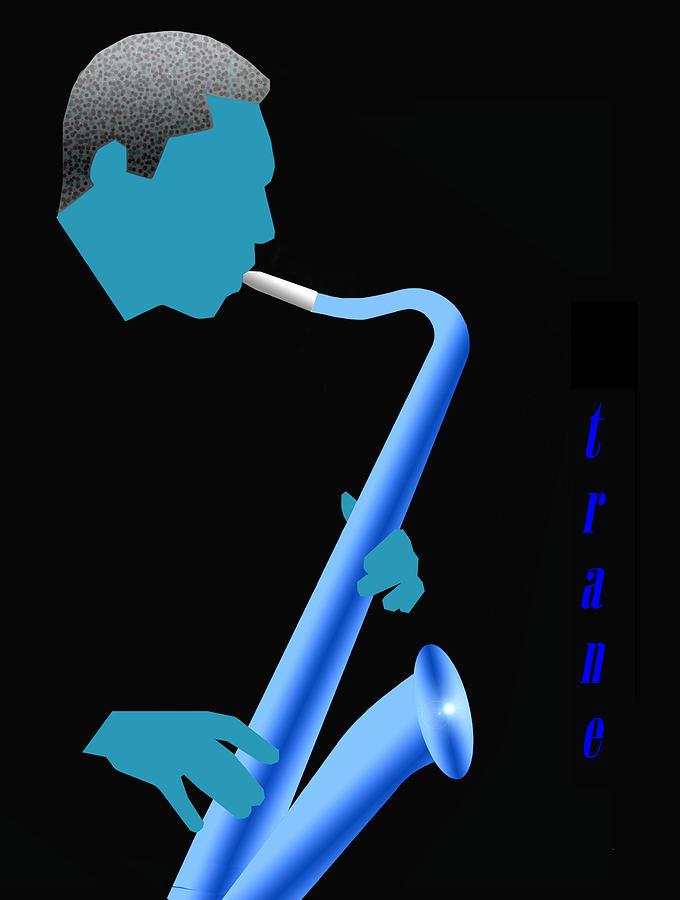 Jazz Digital Art - Blue Trane by Victor Bailey