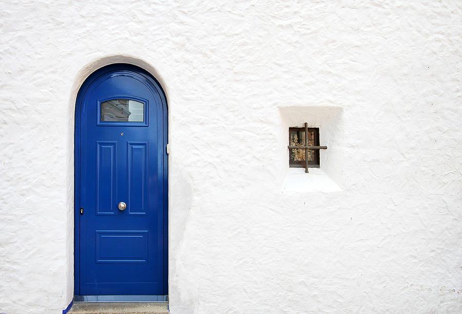 Door Photograph - Blue by Trevor Sollars