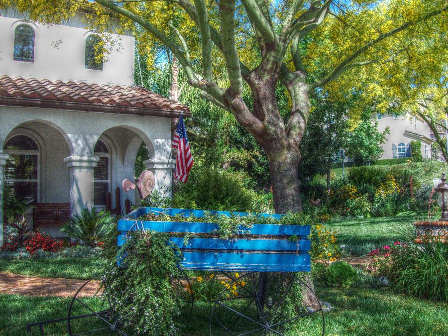 Blue Photograph - Blue Wagon by Cynthia Nunn