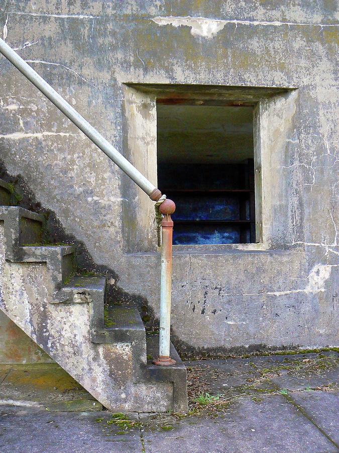 Wwii Photograph - Blue Window Bunker by Pamela Patch