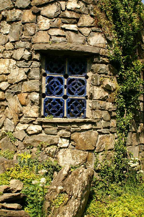Stone Photograph - Blue Window by Margaret Steinmeyer