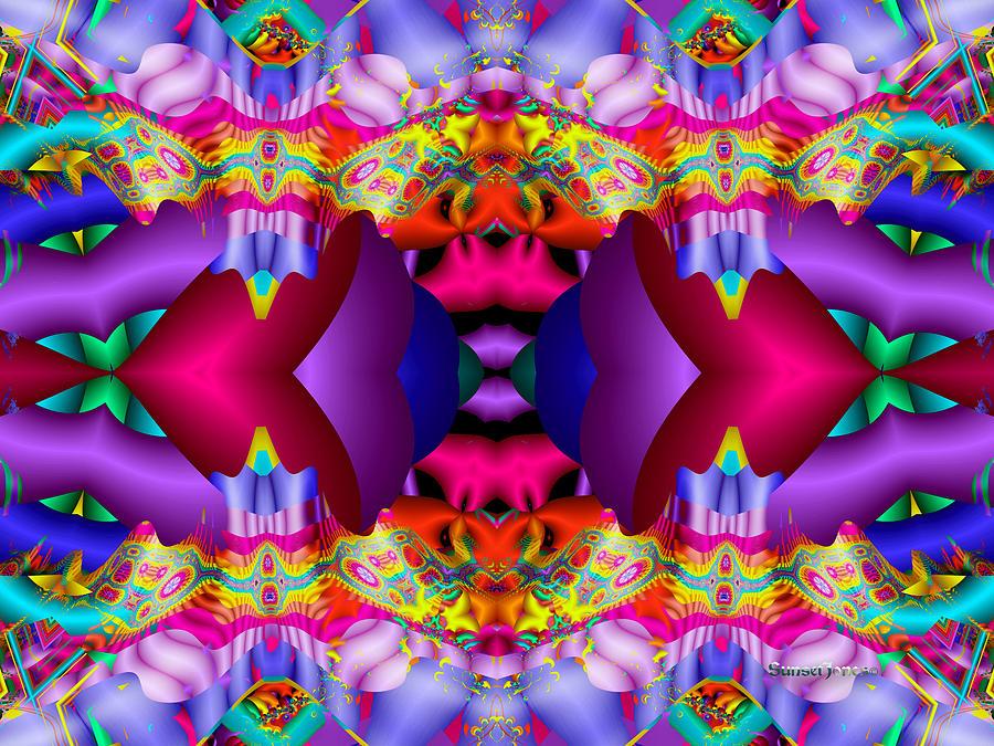 Purple Digital Art - Blueberry Ice by Robert Orinski