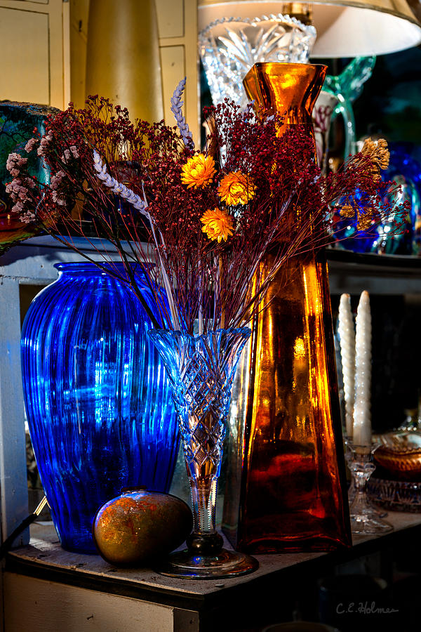 Still Life Photograph - Blues And Ambers by Christopher Holmes