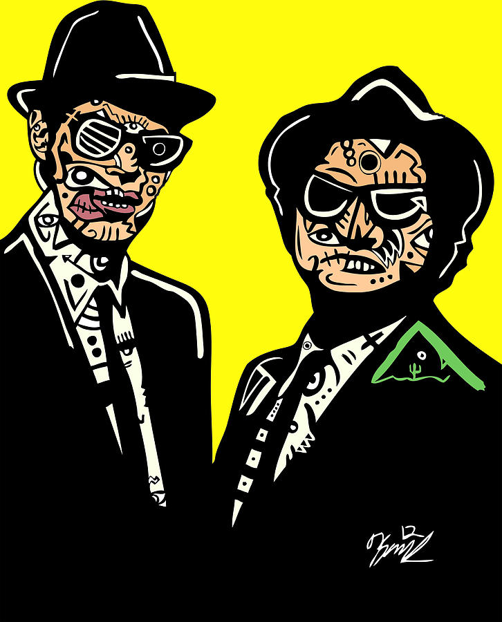 Actors Digital Art - Blues Brothers by Kamoni Khem