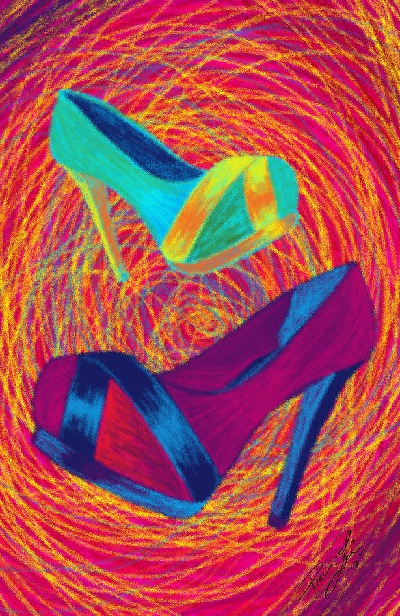 High Heels Digital Art - Blues Heels by Kenal Louis