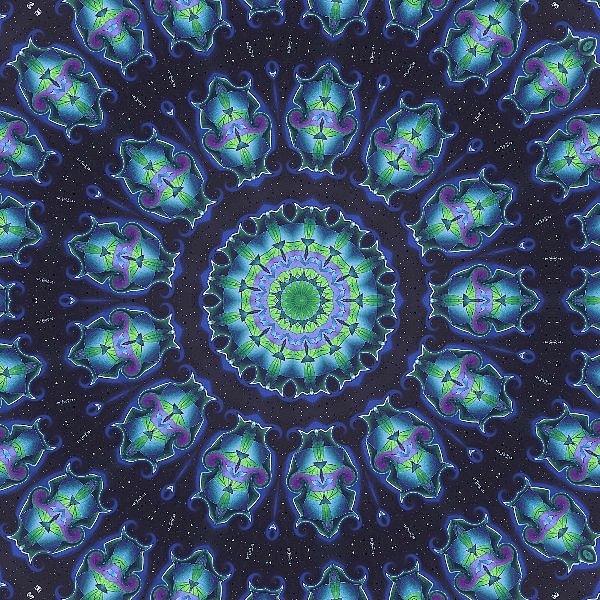 Kaleidoscope Photograph - Blues by Yvette Pichette