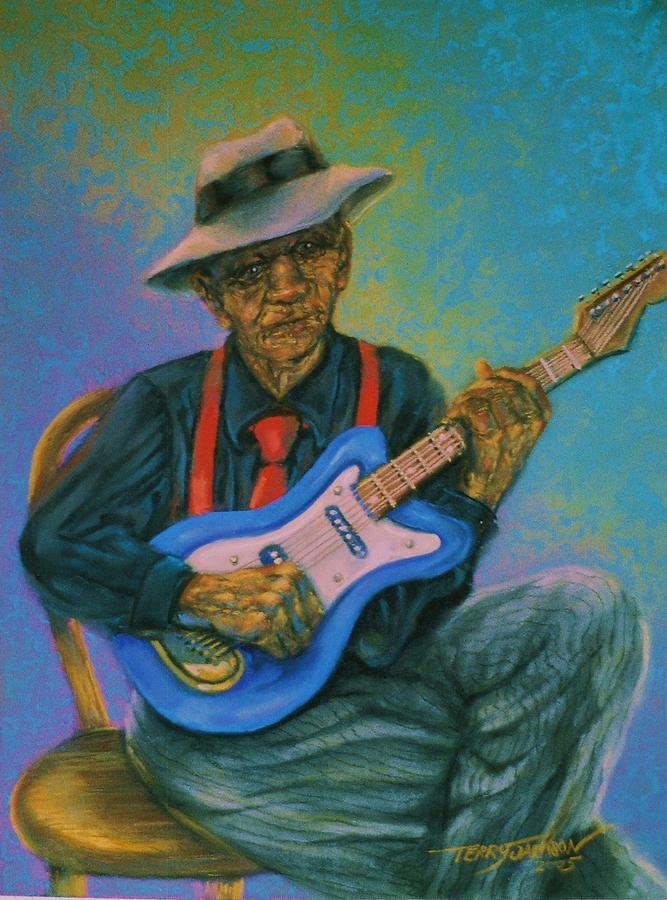 Blues Man Pastel - Bluesman by Terry Jackson
