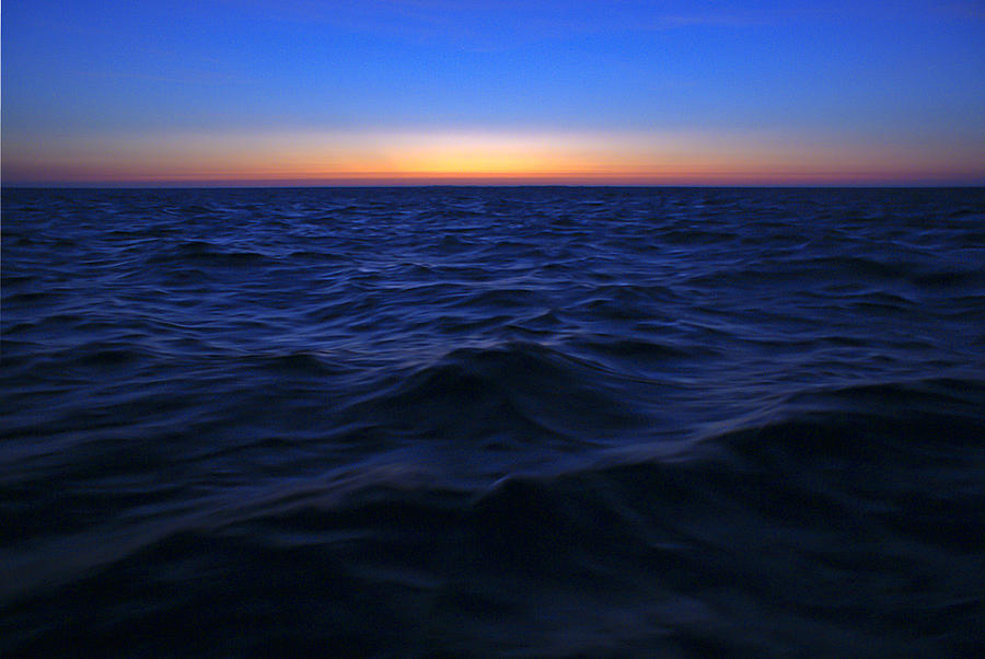 Seascape Photograph - Bluewater Sunset by Gary Eason