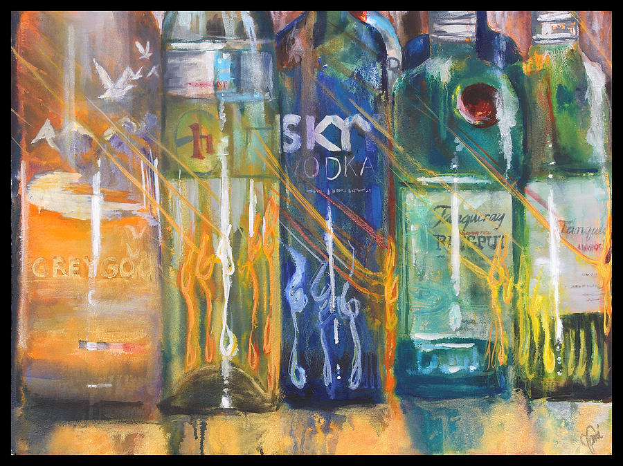 Grey Goose Painting - Blur by Jami Childers