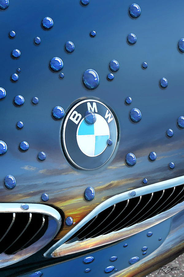 Bmw roundel and raindrops painting by rod seel bmw painting bmw roundel and raindrops by rod seel bookmarktalkfo