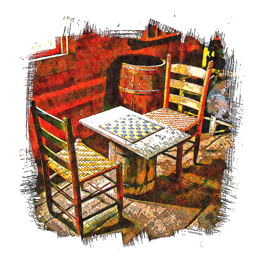 Digital Photo Art Photograph - Board Games by Michael Hodges
