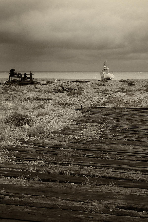 Seascape Photograph - Boardwalk At Dungeness by David Turner