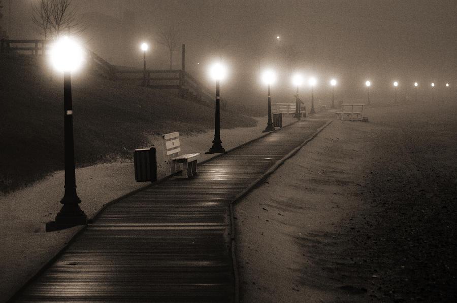 Algoma Photograph - Boardwalk In The Fog by Bill Pevlor