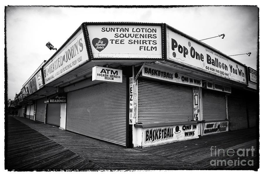 Shops Photograph - Boardwalk Shopping by John Rizzuto