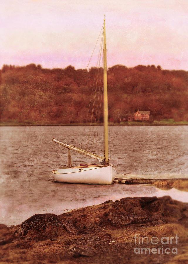 Boat Photograph - Boat Docked On The River by Jill Battaglia