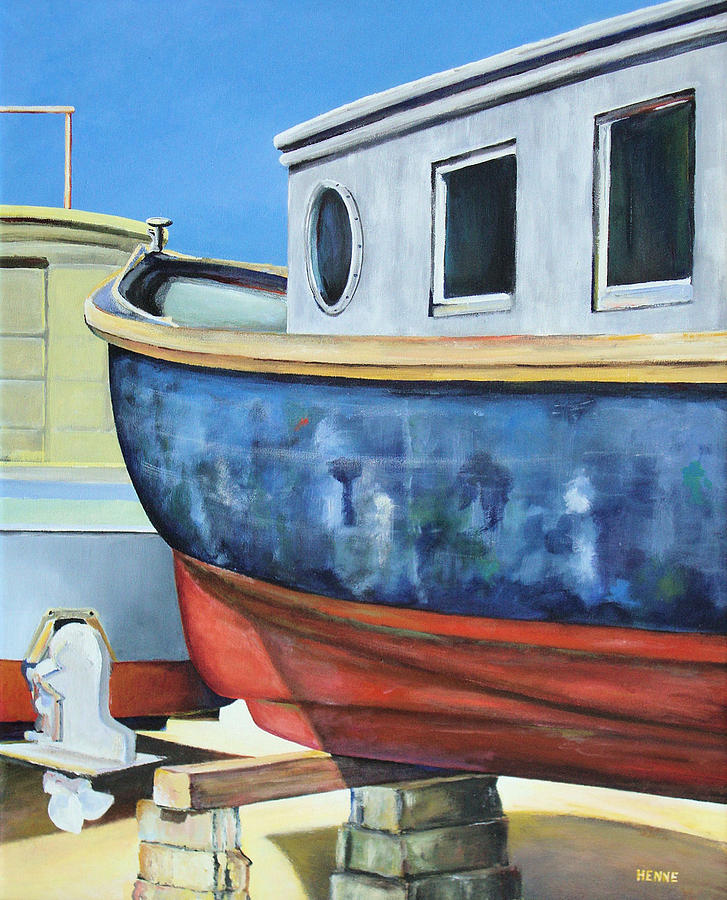 Boat Painting - Boat Hull by Robert Henne