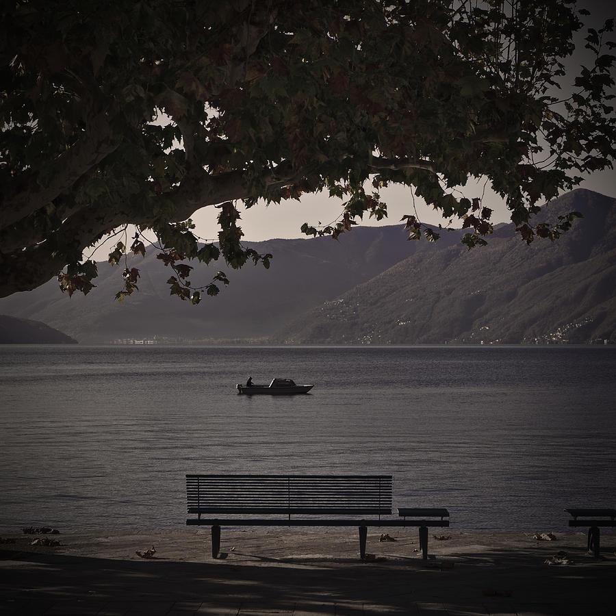 Boat Photograph - boat on the Lago Maggiore by Joana Kruse