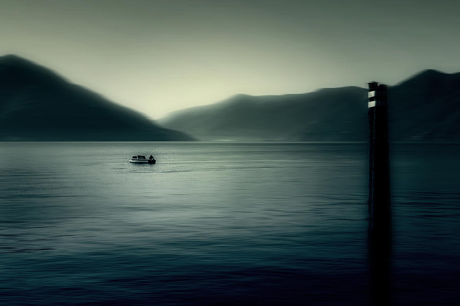 Boat Photograph - boat on the Lake Maggiore by Joana Kruse
