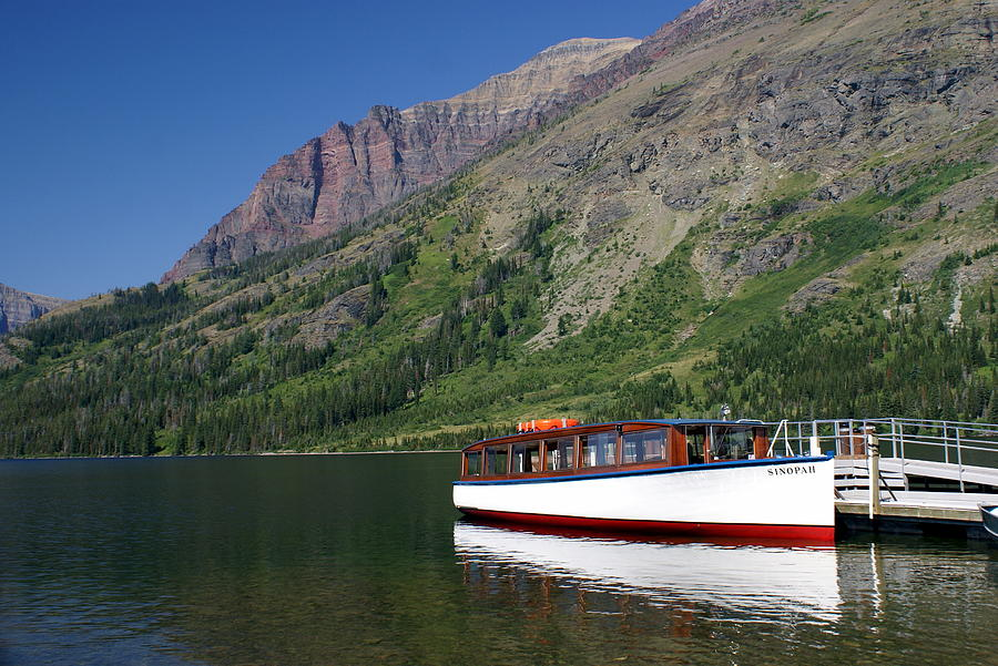 Glacier National Park Photograph - Boat On Two Medicine by Marty Koch