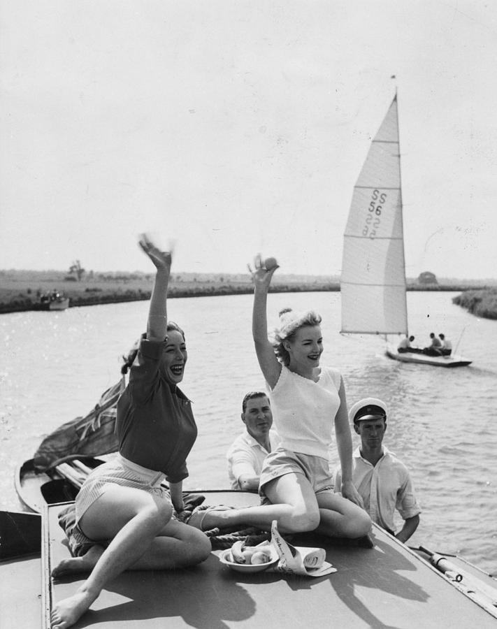 Adult Photograph - Boat Party by John Drysdale