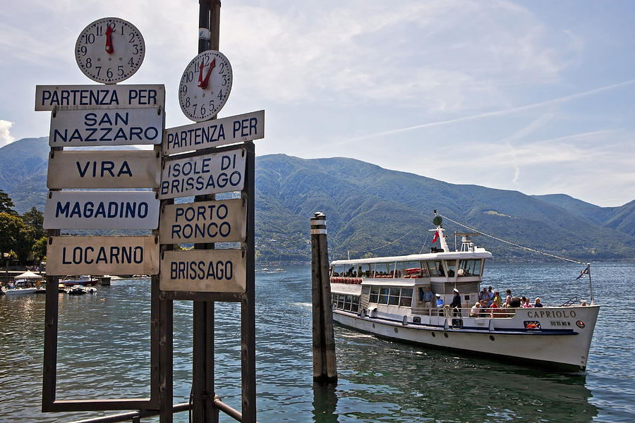 Ascona Photograph - Boat Trip On Lake Maggiore by Joana Kruse