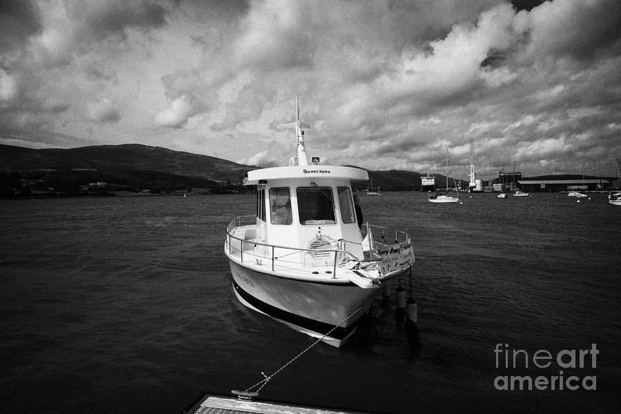 Small Photograph - Boat Used As A Small International Passenger Ferry Crossing The Mouth Of Carlingford Lough by Joe Fox