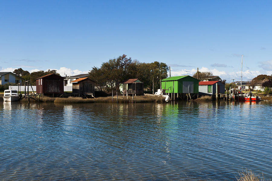 Boat Photograph - Boathouses by Graeme Knox
