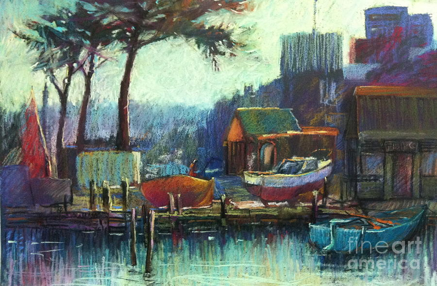 Pastel Painting - Boatmans Retreat by Pamela Pretty