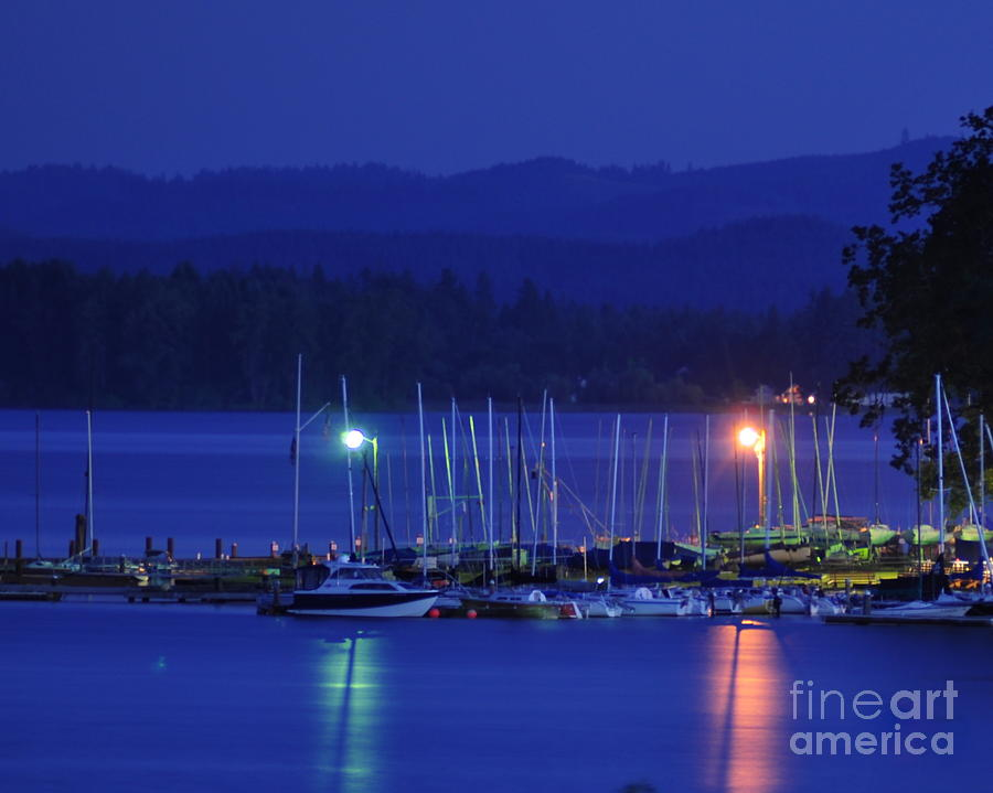 Night Photograph - Boats At Rest by Scott Gould