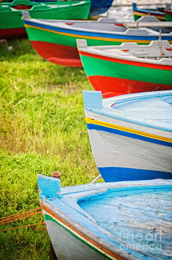 Boats Photograph - Boats In A Row II by Silvia Ganora