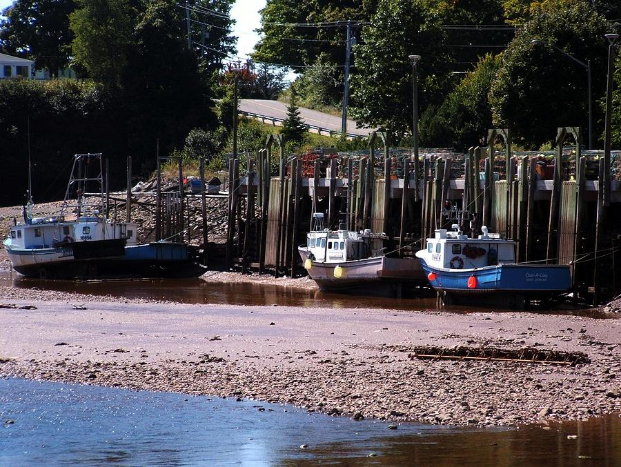 Fundy Photograph - Boats In Bay Of Fundy by David Gilman