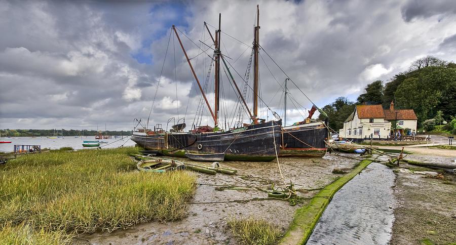 Pin Mill Photograph - Boats On The Hard At Pin Mill by Gary Eason